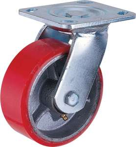 Cast iron PU Heavy duty Caster