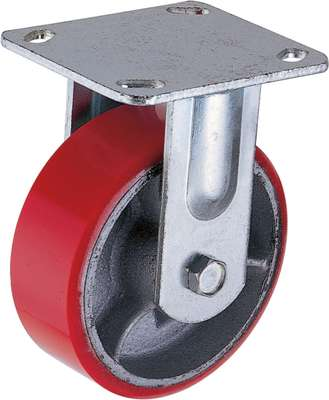Cast iron PU heavy duty Fixed Caster