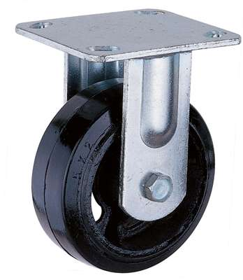 Mold on rubber Heavy duty fixed caster